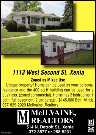 1113 West Second St., Xenia