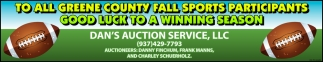 To all Greene County Fall Sports Participants - Good Luck to a Winning Season