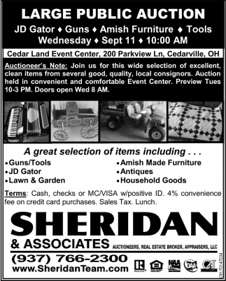 Large Public Auction - Sep 11