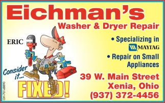 Washer & Dryer Repair Specializing in Maytag