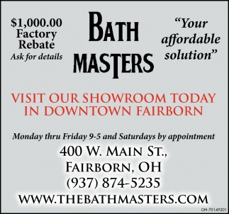 Visit our Showroom Today in Downtown Fairborn