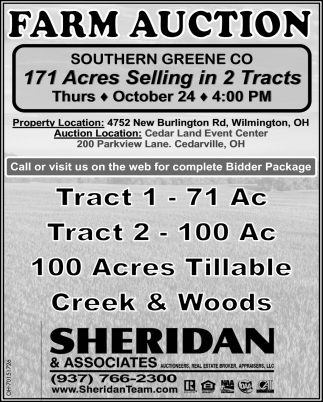 Farm Auction - October 24