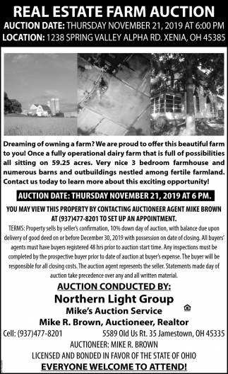 Real Estate Farm Auction - November 21