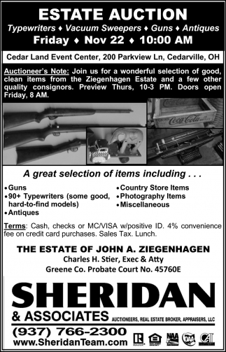 Estate Auction - Nov 22