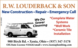 New Construction - Repair - Emergency Call