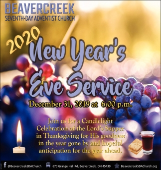 2020 New Year's Eve Service