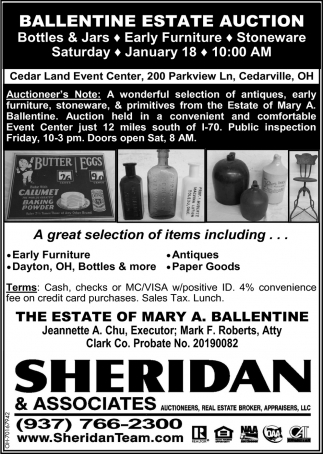 Ballentine Estate Auction - January 18