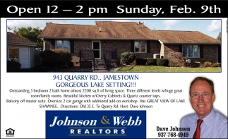 Open House - 943 Quarry Rd., Jamestown