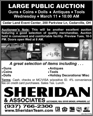 Large Public Auction - March 11