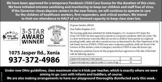 Temporary Pandemic Child Care License