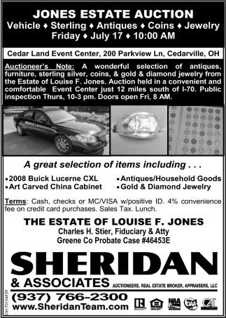 Jones Estate Auction