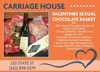 Valentines Sexual Chocolate Basket