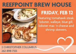 Reefpoint Brew House, Dining & Entertainment in Racine