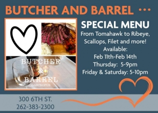 Butcher & Barrel Gastropub, Dining & Entertainment in Racine