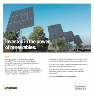 Invested In The Power Of Renewables