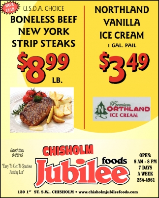 Boneless Beef New York Strip Steaks