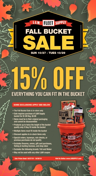Fall Bucket Sale