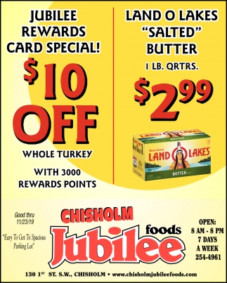 Jubilee Rewards Card Special!