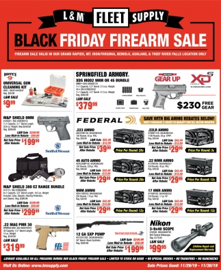 Black Friday Firearm Sale