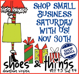 Shop Mall Business Saturday With Us!