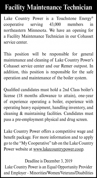 Facility Maintenance Technician