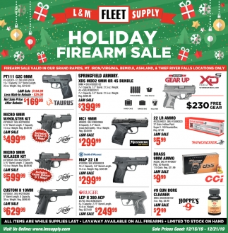 Holiday Firearm Sale