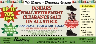 Januart Final Retirement Clearance Sale On All Stock