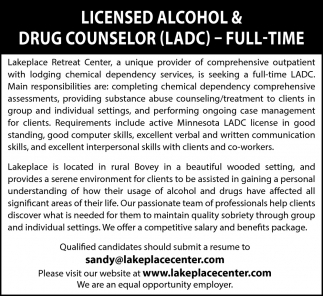 Licensed Alcohol & Drug Counselor