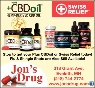 Stop To Get Your Plus CBDoil Or Swiss Relief Today!