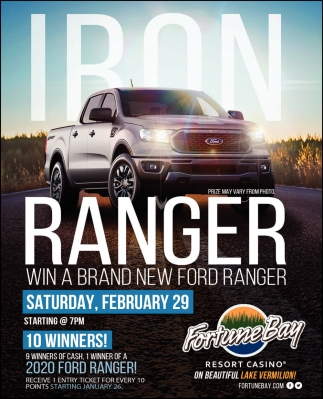 Iron Ranger Win A Brand New Ford Ranger