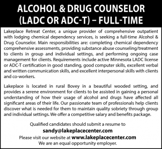 Alcohol & Drug Counselor