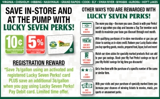 Save In-Store And At The Pump