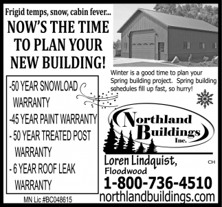 Now's The Time To Plan Your New Building!