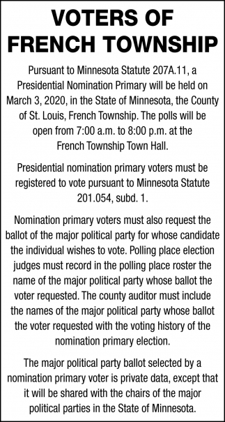 Voters Of French Township