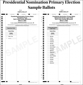 Presidential Nomination Primary Election Sample Ballots