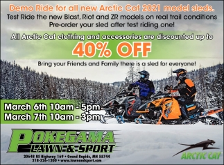 Demo Ride For All New Artic Cat 2021 Model Sleds