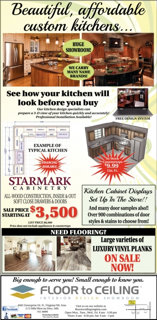 Beautiful, Affordable Custom Kitchens...