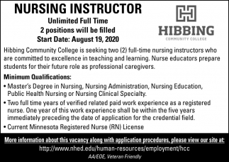 Nursing Instructor Needed