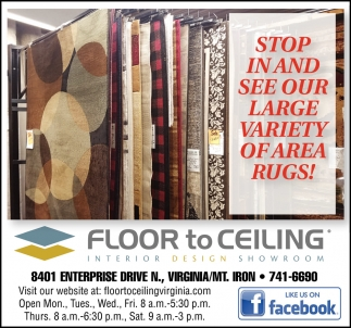 Stop In And See Our Large Variety Of Area Rugs!