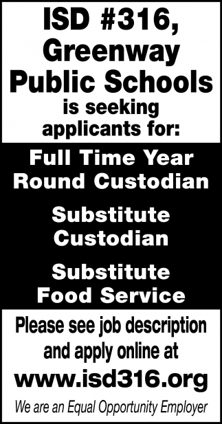 Full Time Year Round Custodian