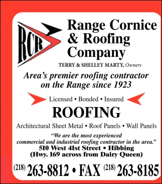 Area's Premier Roofing Contractor On The Range Since 1923