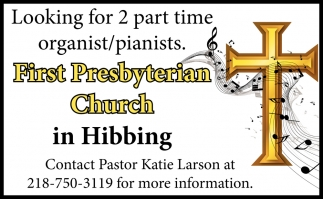Looking For 2 Part Time Organist/Pianists.