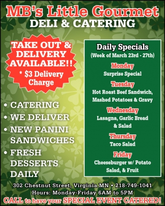 Take Out & Delivery Available!!