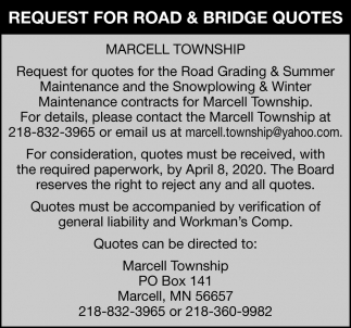 Request For Road & Bridge Quotes