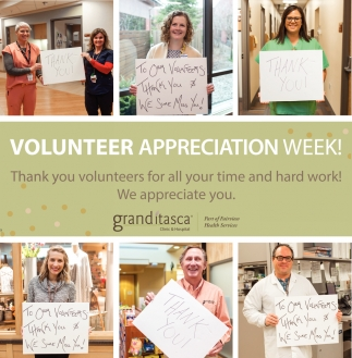 Volunteer Appreciation Week!
