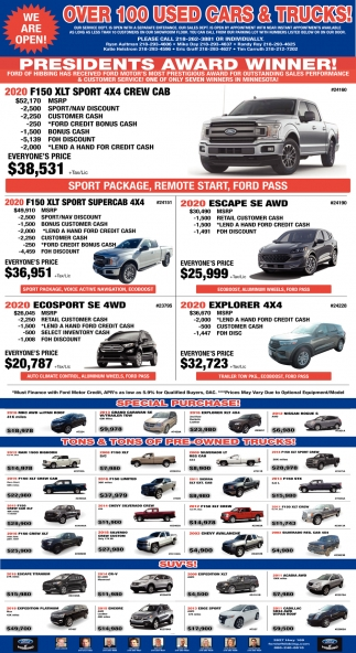 Over 100 Used Cars & Trucks!