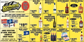 Large Selection Of Beer, Wine And Liquor At Great Prices!