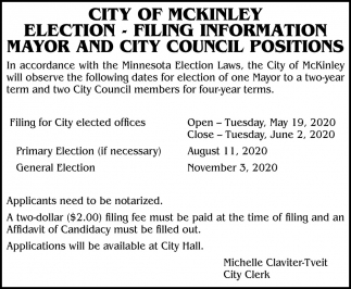 Election - Filing Information
