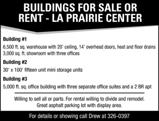 Buildings For Sale Or Rent