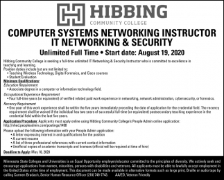 Computer Systems Networking Instructor It Networking & Security